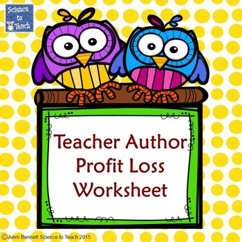 Teacher Author Profit/Loss Balance Sheet