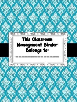 Teacher Behavior Resources Binder