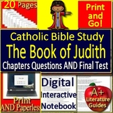 Catholic Bible Distance Learning - The Book of Judith - Printable AND Google!