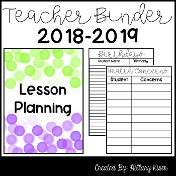 Teacher Binder (EDITABLE) *UPDATED FOR 2017-2018*