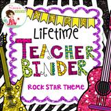Teacher Binder 2018-2019 Rock Star Theme