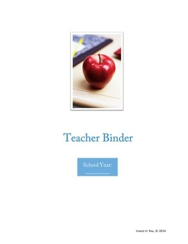 Teacher Binder