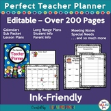 Editable Teacher Planner & Organizer: FREE Updates for Life