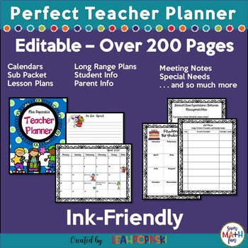 Editable Teacher Binder and Organizer
