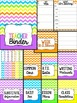 Teacher Binder (Editable- Bright Chevron)