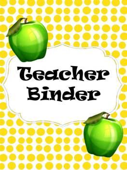 Teacher Binder 2013-2014 School Year