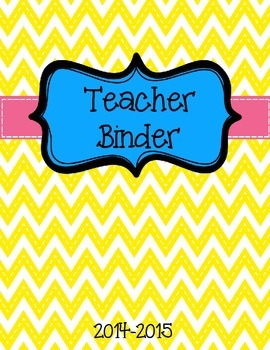 Teacher Binder 2014-15