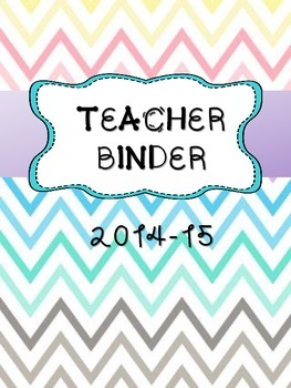 Teacher Binder 2015-16
