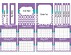 Purple Chevron Teacher Binder 2017-2018 (Binder Covers & Calendars) Editable
