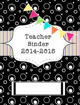 Teacher Binder 2015-2016 Black Retro