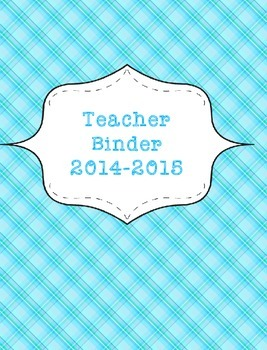 Teacher Binder 2015-2016 Blue Plaid