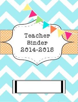 Teacher Binder 2015-2016 Chevron and Polka Dots