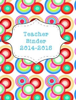 Teacher Binder 2015-2016 Colorful Dots