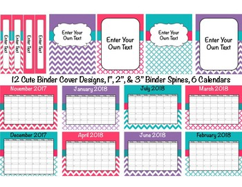 Teacher Binder 15/16 (Covers, Spines, Forms & Calendars) Editable UPDATED YEARLY