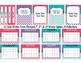 Teacher Editable Binder 2017-2018 Covers, Spines, Forms & Calendars