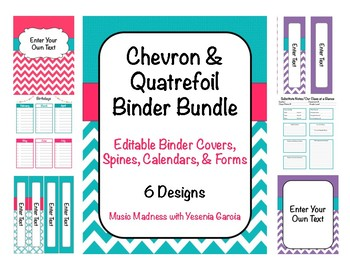 Teacher Binder 15/16 (Covers, Spines, Forms & Calendars) E