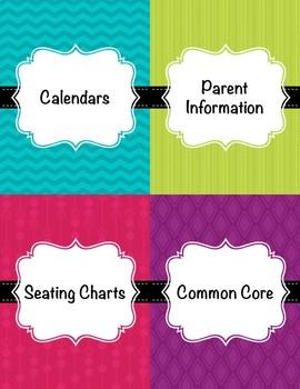 Teacher Binder 2017-2018(Covers, Spines, Forms & Calendars) Editable