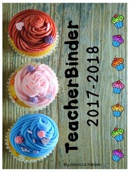 Teacher Binder 2017-2018 Cupcake Edition