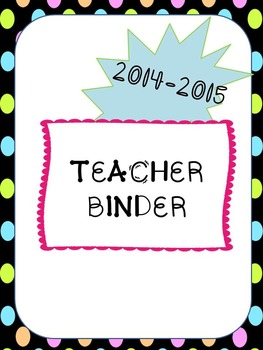 Teacher Binder 2014-2015 Dots