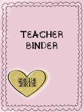 Teacher Binder 2014-2015 Gold Heart