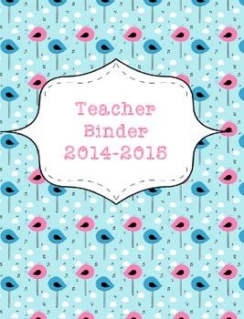 Teacher Binder 2015-2016 Musical Birds