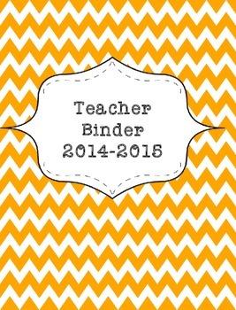 Teacher Binder 2015-2016 Orange Chevron