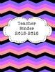Teacher Binder 2015-2016 Pink and Purple Retro