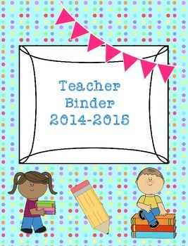 Teacher Binder 2015-2016 Turquoise Dots