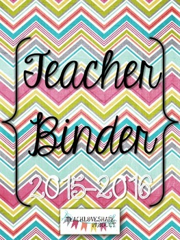 Teacher Binder 2015-2016(Multi Chevron)