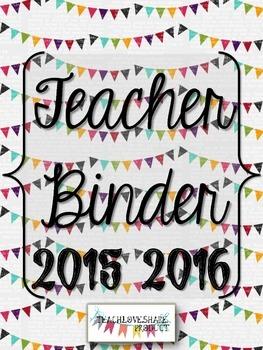 Teacher Binder 2015-2016(Pennant Banner)