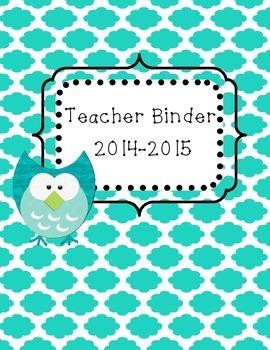 Teacher Binder 2014-2105
