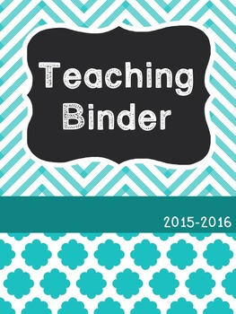 Teacher Binder 2015-2016