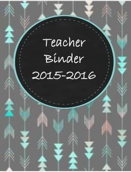 Teacher Binder 2015-2016 Aztec Arrow