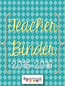 Teacher Binder 2015-2016 (Blue Argyle)