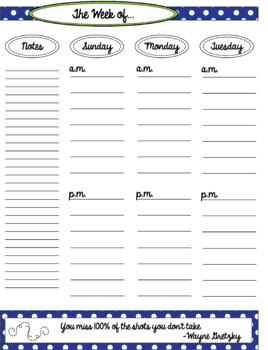Teacher Binder 2018-2019--Calendars, Weekly Planner, Forms and Templates Galore!