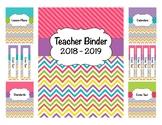 *Teacher Binder 2018-2019 (Covers, Spines, Forms & Calendars) Editable