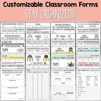 Teacher Binder with 4th Grade Common Core Gradebook Editable {Free Updates}