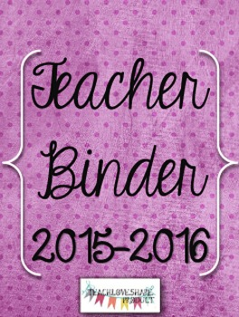 Teacher Binder 2015-2016(Purple Dots)