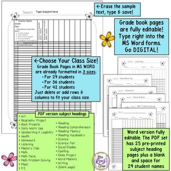 Editable Teacher Binder MS Word Fully Editable Teacher Planner w/ Forms!