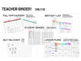 Teacher Binder 2016-2017
