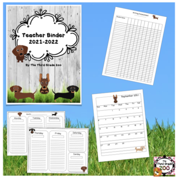 Teacher Binder 2017-2018 Dachshund Edition