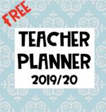 FREE Teacher Planner - 2019/20 {Editable}
