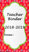 Teacher Binder 2018-2019