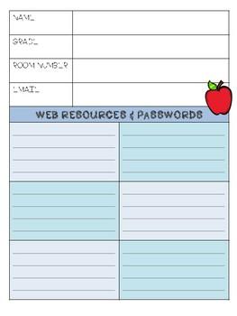 Teacher Binder 2018-2019, Lesson Plan Book and Calendar
