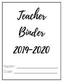 Teacher Binder 2019-2020 (Simple Version with Spanish Resources)