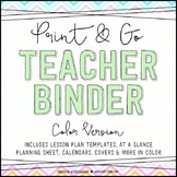 Chevron Teacher Binder {Color}
