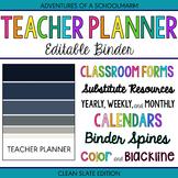 Teacher Binder - Blue and Grey Stripes (Includes Blackline)