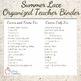 Summer Lace Design Editable Binder & Planner