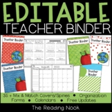 Teacher Binder - Editable