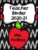 Teacher Binder (Apple) 2020-21 Editable Edition